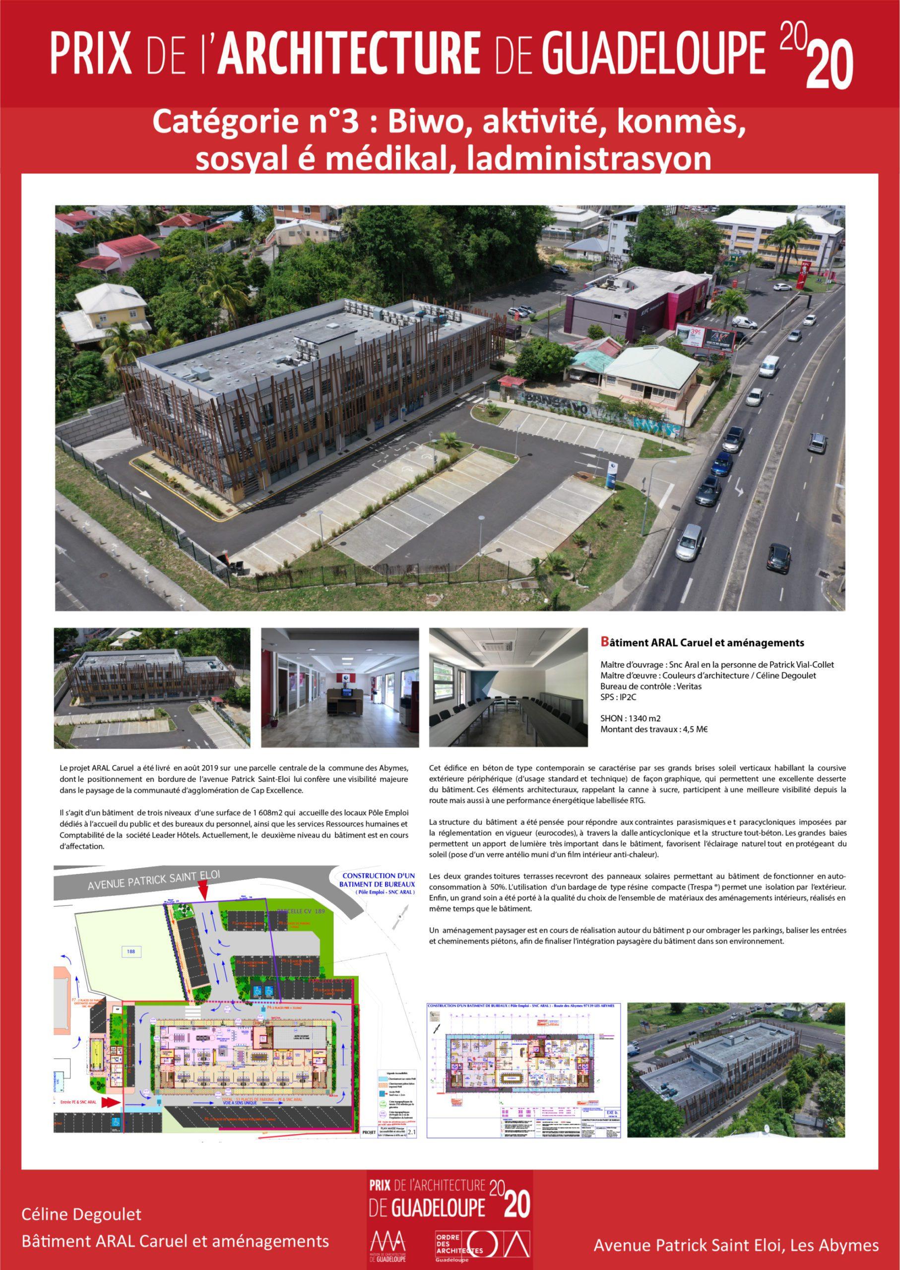 Bâtiment ARAL Caruel et aménagements